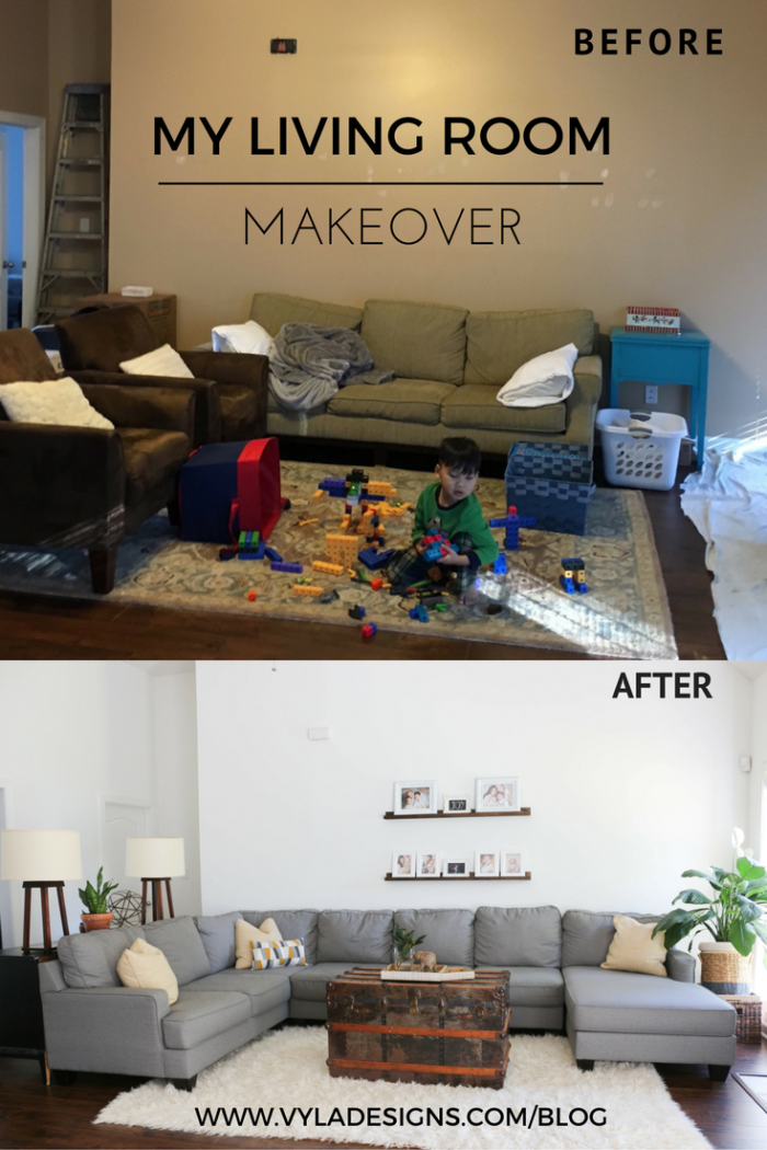 Interior: Before and After – Living Room